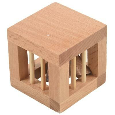 Square Mysterious Wooden Classic Genius Puzzles 3D