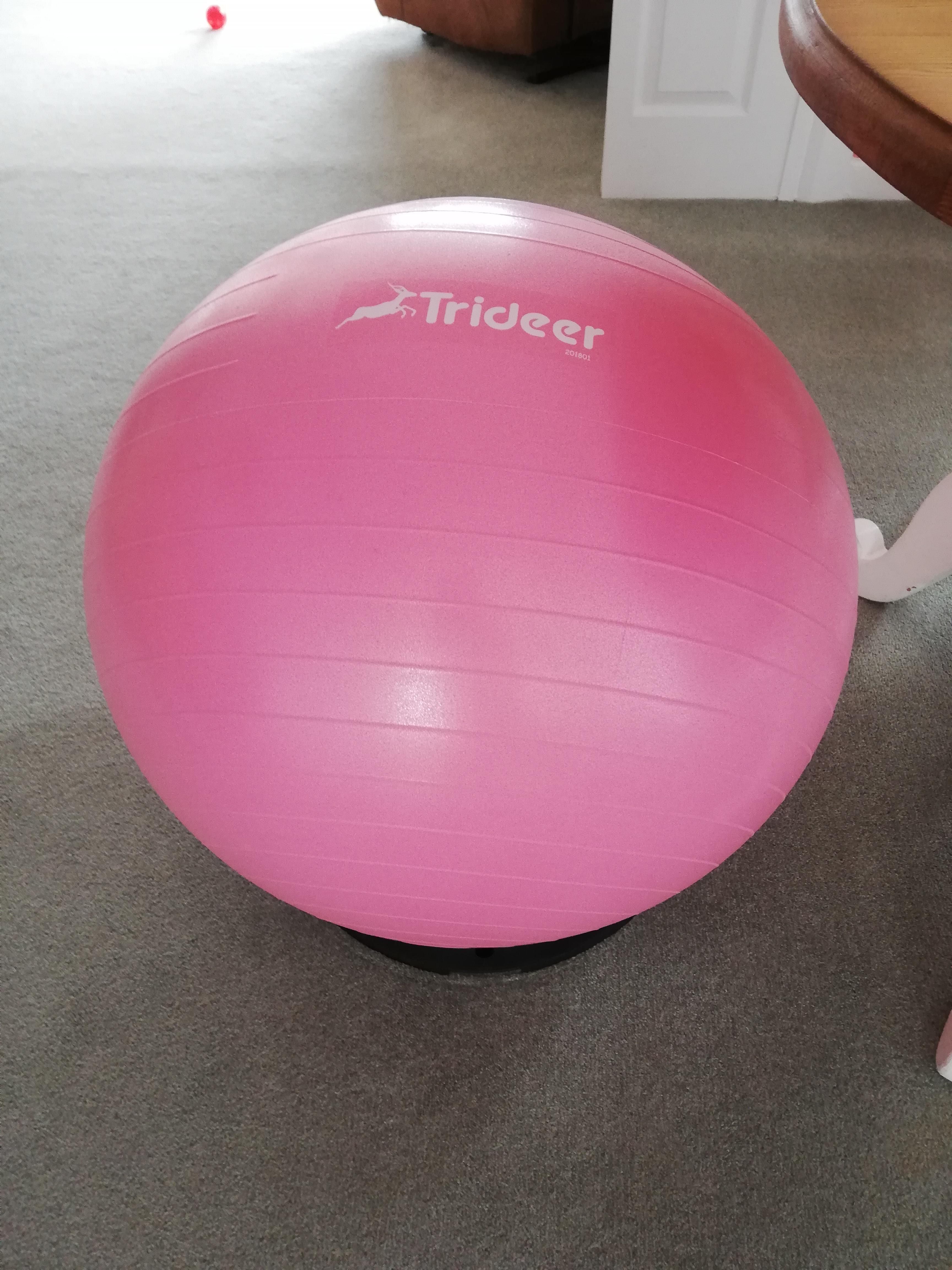 Trideer Exercise Ball (60cm) Extra Thick Yoga Ball Chair