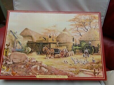 Waddingtons de Luxe Puzzle  piece jigsaw -.Threshing in