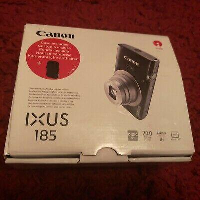 CANON IXUS 185 Compact Camera Brand New - Black Carry Case