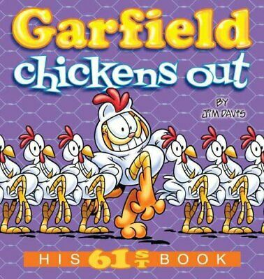 Garfield Chickens Out His 61st Book by Jim Davis