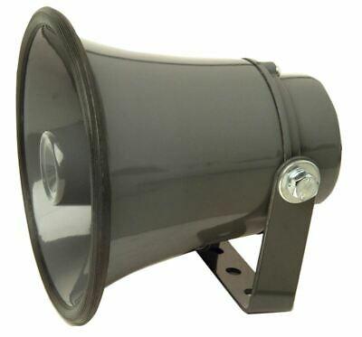 Grey 8 Ohm 25W Aluminium Horn Speaker With Adjustible