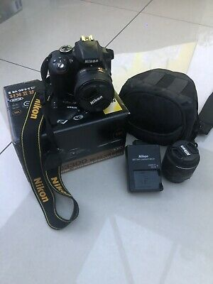 Nikon D DSLR Camera with mm AF-P VR Lens - Black