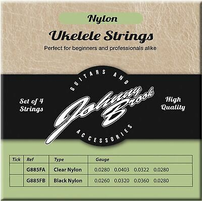 Set of 4 High Quality Clear Nylon Ukulele Strings Johnny