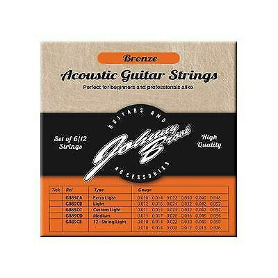 Set of 6 High Quality Bronze Acoustic Guitar Strings (Custom