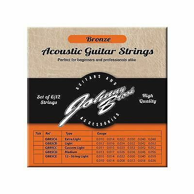 Set of 6 High Quality Bronze Acoustic Guitar Strings (Extra