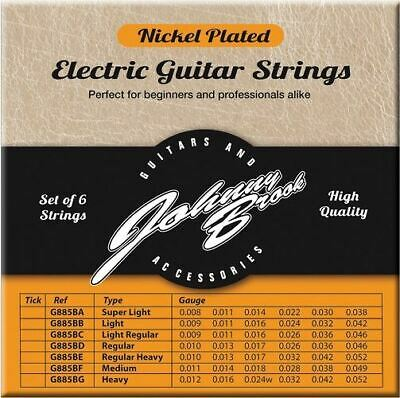 Set of 6 High Quality Nickel Plated Electric Guitar Strings