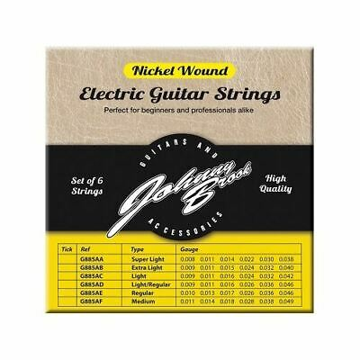 Set of 6 High Quality Nickel Wound Electric Guitar Strings