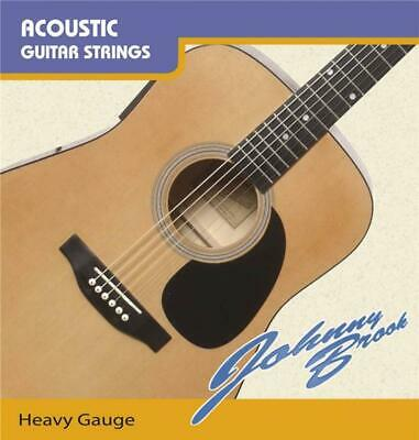 Set of 6 Johnny Brook Acoustic Heavy Gauge Guitar Strings