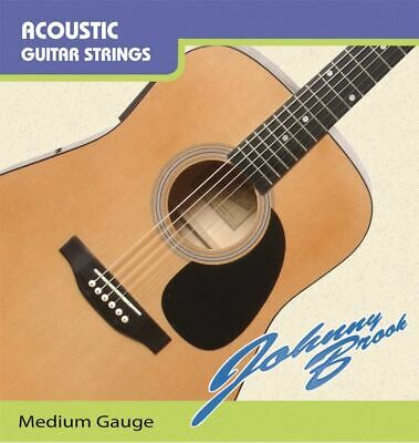 Set of 6 Johnny Brook Medium Gauge Guitar Strings Johnny