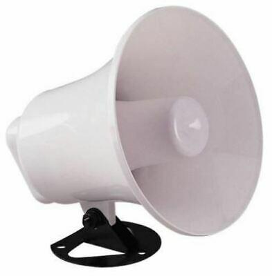 White 8 Ohm 10 W Round Horn Speaker With Adjustable Bracket