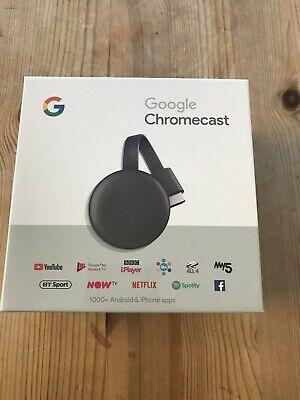Google Chromecast 3rd Generation  - Charcoal