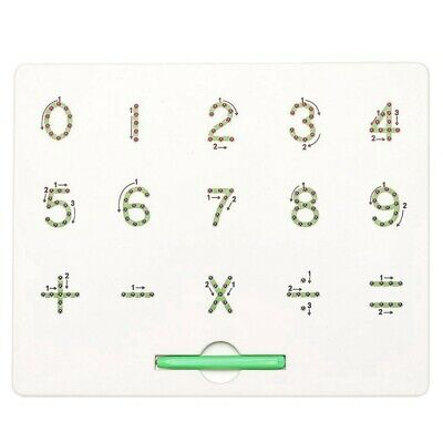2X(0 To 9 Number Magnet Board For Kids Educational Toy
