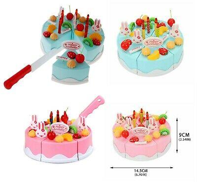 37 Piece Pretend Role Play Kitchen Toy Happy Birthday Cake