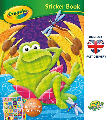 CRAYOLA STICKER BOOK FROG COVER Colouring Book & Stickers