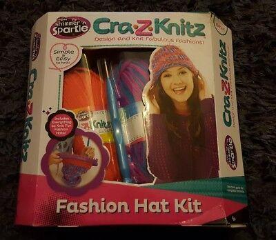 Cra-Z-Knitz Fashion Hat Kit crazart shimmer n sparkle 6+