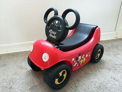 DISNEY MICKEY MOUSE TODDLER RIDE ON AND PULL ALONG CART