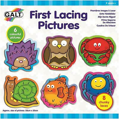 Galt FIRST LACING PICTURES Kids Activity Toy BNIP
