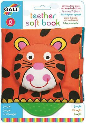 Galt TEETHER SOFT BOOK - JUNGLE Baby Activity Toy BNIP