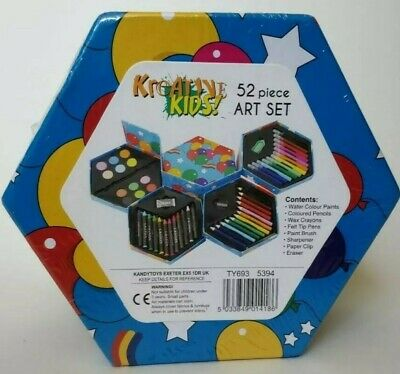Kids Drawing Set Childrens 52 Piece Colouring Art Kit