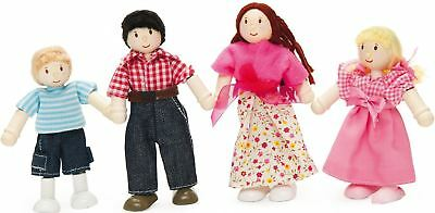 Le Toy Van DOLL FAMILY OF FOUR Posable Wooden Figures