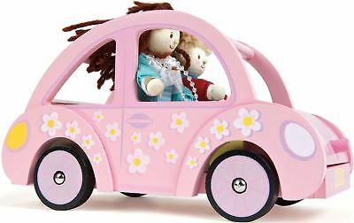 Le Toy Van SOPHIE'S CAR Wooden Dolls House Accessory Kids BN