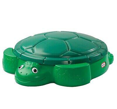 Little Tikes Turtle Sandbox Sandpit With Lid Garden Kids
