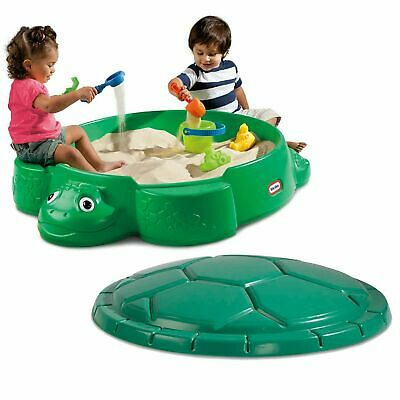 Little Tikes Turtle Sandbox With Lid Garden Kids Water And
