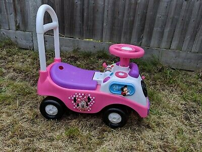 My First Ride On Push Along Car for Children - Pink Minnie