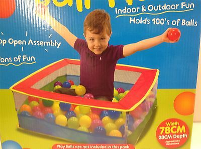 Pop Up Colourful Ball Pit 78 x 28cm Indoor & Outdoor Kids