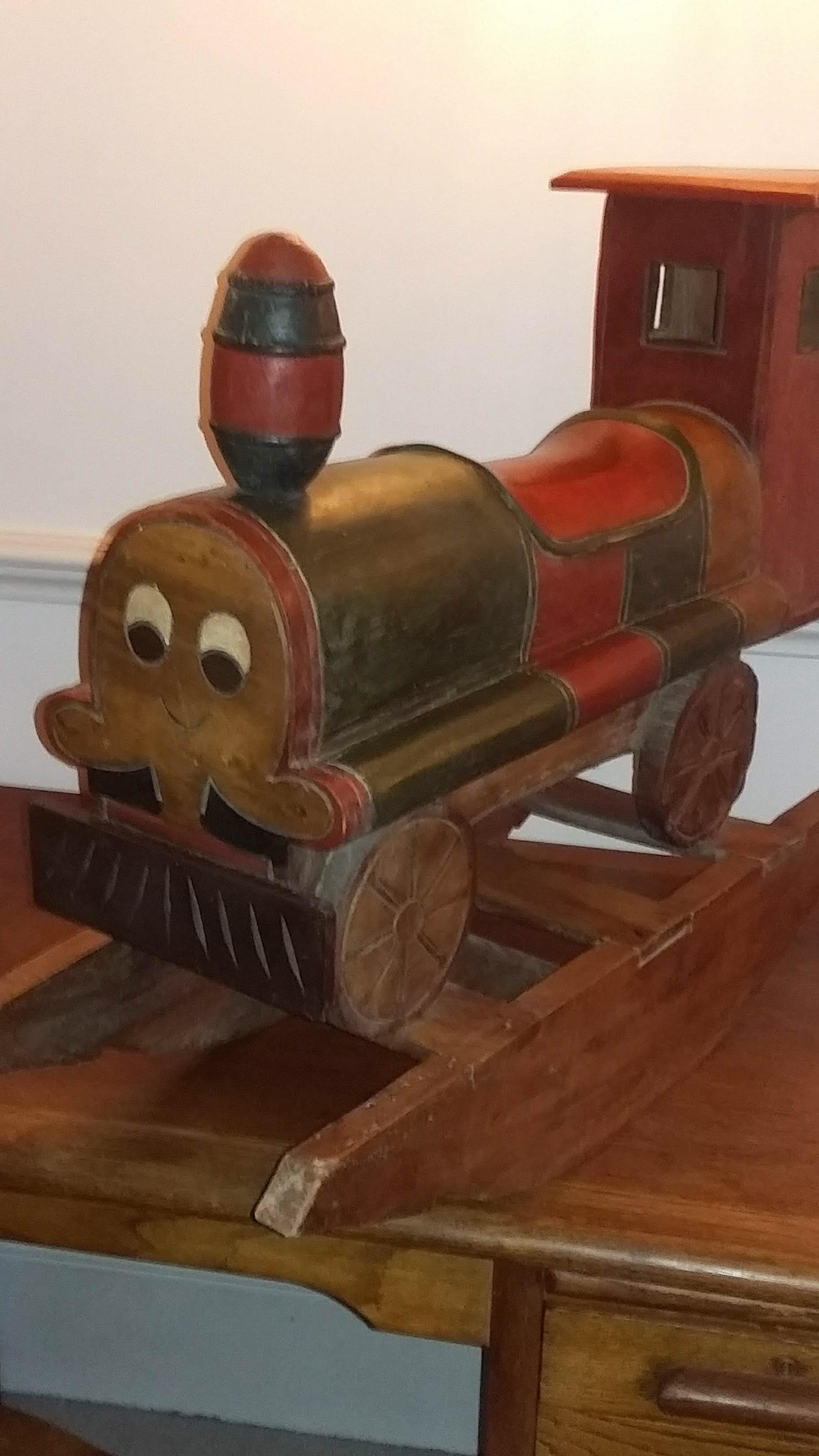 Wooden rocking train