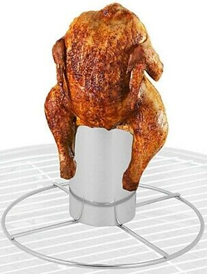 BARBECUE BBQ BEER CAN CHICKEN ROASTER VERTICAL CHICKEN GRILL