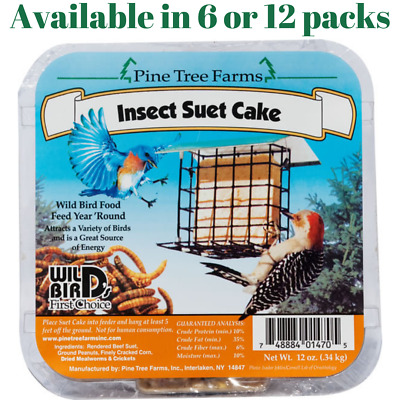 Pine Tree Farms Insect Suet Cakes 12 oz. (6 or 12 Packs)