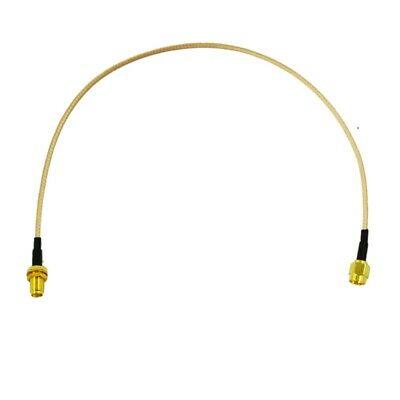 """2X(12.4"""" SMA male Plug to SMA female Jack RF Coaxial Coax"""