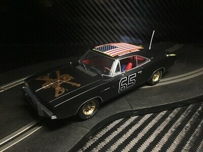 PIONEER SLOT CAR UNBOXED DODGE CHARGER THE BLACK GENERAL