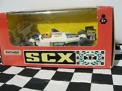 SCX MINARDI F1 WHITE # SLOT USED BOXED