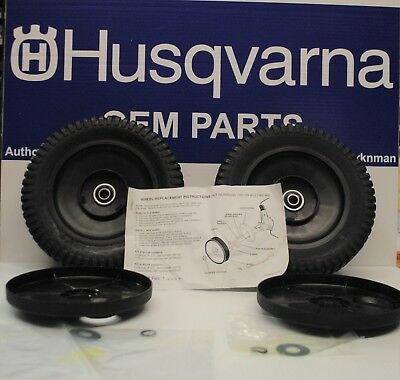 2 Genuine OEM Husqvana  AYP 9X2 Wheels