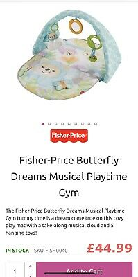 FISHER-PRICE butterfly dreams MUSICAL PLAYTIME BABY GYM TOY