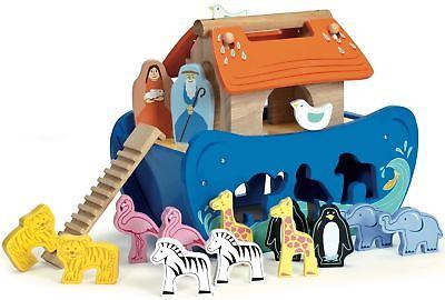 Le Toy Van NOAH'S SHAPE SORTER Wooden Animal Boat Baby