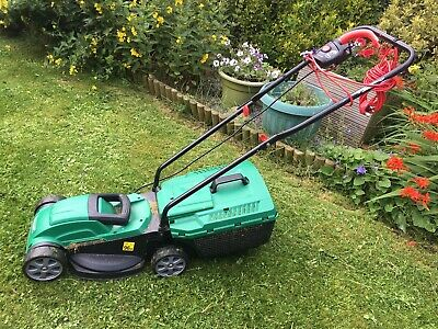 Qualcast Rotary Electric Lawn Mower - Green Used Good