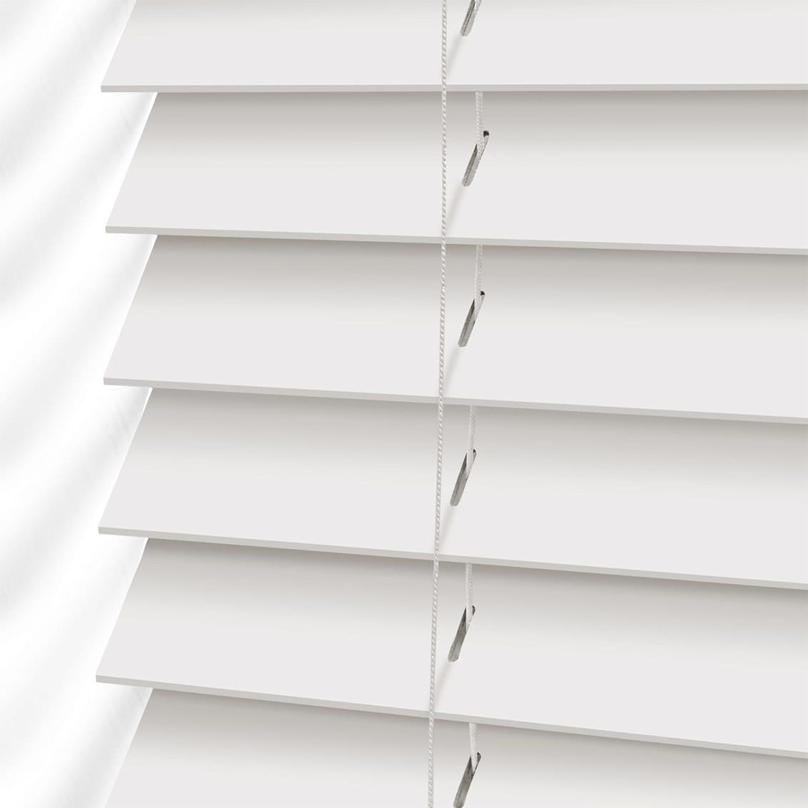 Faux Wood, True White, Blinds2Go Venetian Blind, brand new.