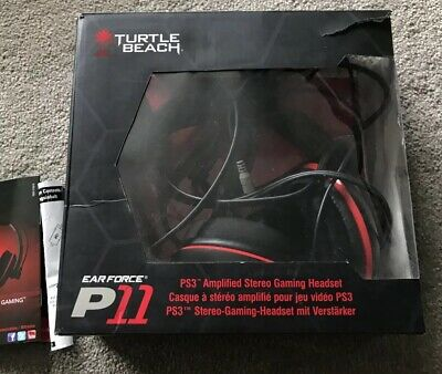 Turtle Beach Ear Force P11 Black/Red Headband Headsets for
