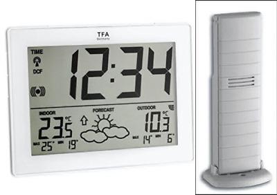 TFA Metro Wireless Weather Station - White With Radio
