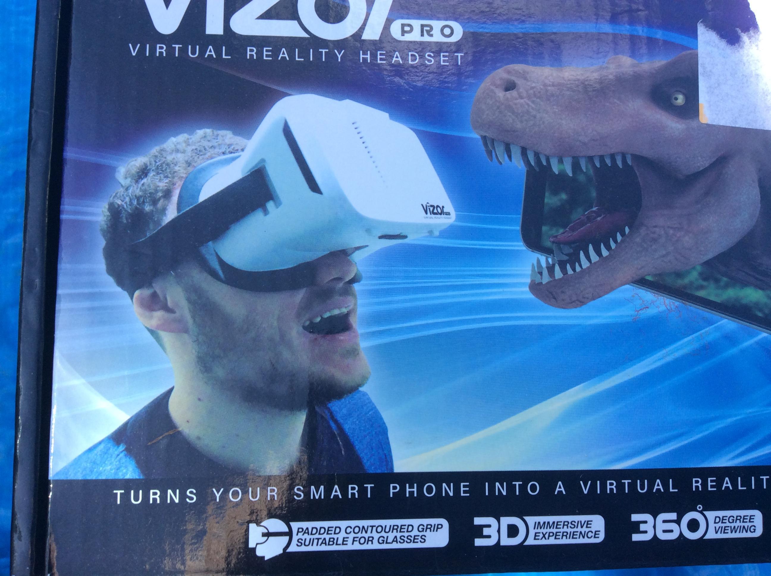 Visor Pro virtual reality headset.