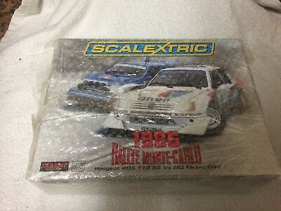 Brand New Scalextric Monte Carlo Rally MG Metro 6R4 and