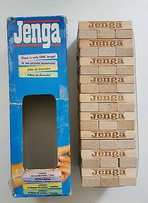 Jenga Game Wooden Building Blocks Vtg  Hasbro Retro