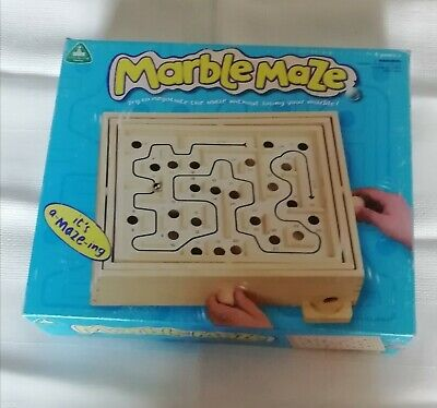 MAZE #2 Wooden Labyrinth Traditional Classic Puzzle Marble