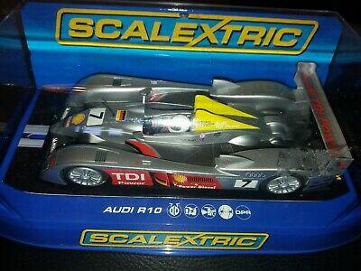 Scalextric Peugeot 908 HDi FAP  Test Car & Audi R10 TDI