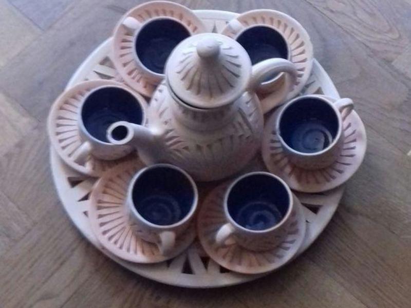 Beautiful Vintage Tunisian Coffee Set.
