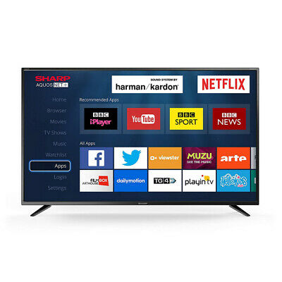 "Sharp 40"" Inch LED Smart TV Television Full HD p with"